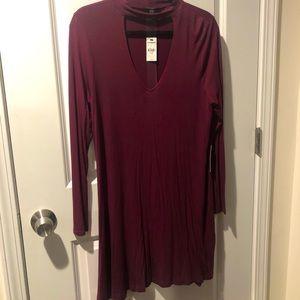 EXPRESS NWT - Plum keyhole sweater dress